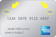 Image of AmEx Security Code